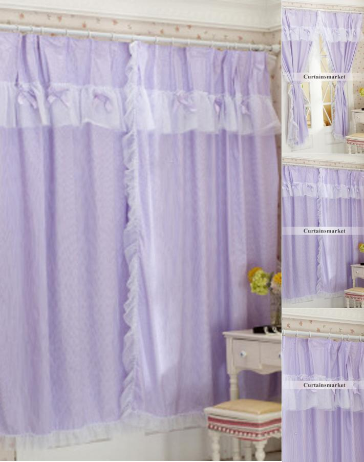 Elegant Beautiful Cotton Lilac curtains for girlsu0027 bedroom ... lilac curtains for bedroom