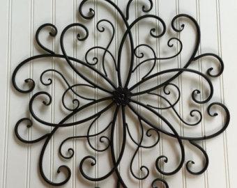 Elegant Black Metal Wall Hanging / Large Metal Wall Decor / Decorative Wall metal wall decorations