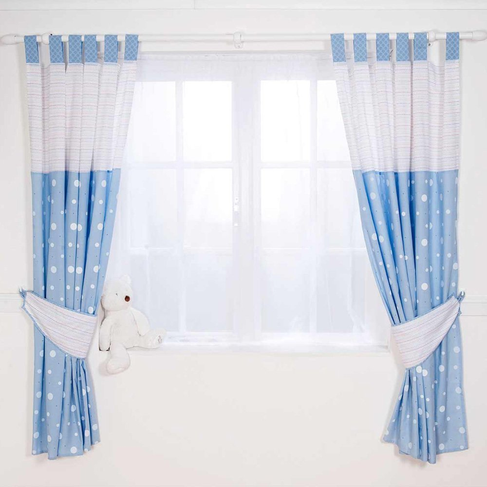 Elegant ... BLUE BERTIE BEAR BABY BOYS NURSERY CURTAINS WITH TIE 300x300 · baby blue nursery curtains