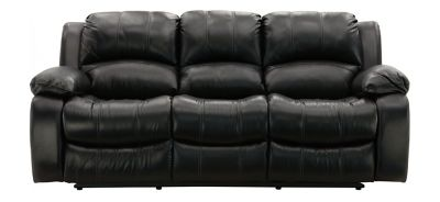 Elegant Bryant II Leather Power-Reclining Sofa black leather reclining sofa
