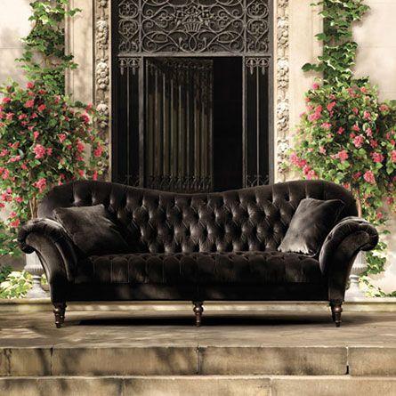Elegant Club Velvet Sofa. Need this for my house. velvet tufted sofa