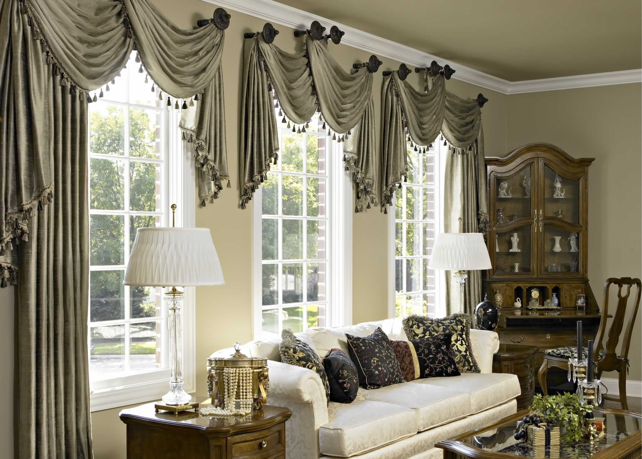 Elegant Cool Window Valance Ideas For Room Interior Decorating Design In Curtain Valance window valance ideas living room