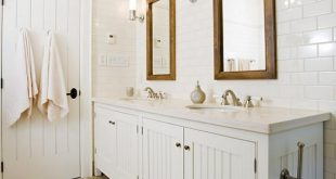 Elegant Crisp white cottage beachy bathroom design with white beadboard bathroom  cabinets vanity, beadboard bathroom vanity