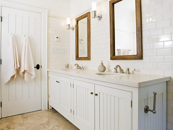 Elegant Crisp White Cottage Beachy Bathroom Design With White Beadboard  Bathroom Cabinets Vanity, Beadboard Bathroom