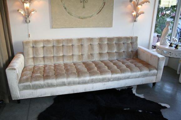 Elegant Custom Velvet Tufted Sofa 2 velvet tufted sofa