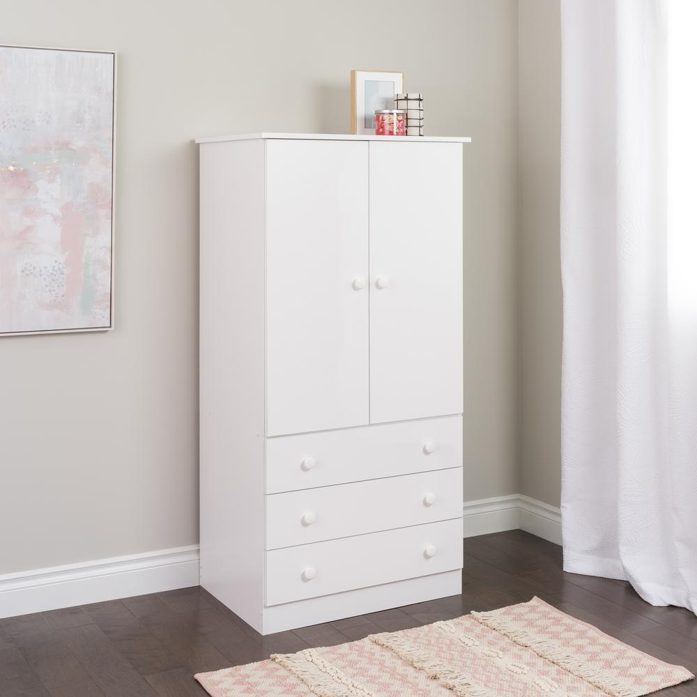Elegant Edenvale White Armoire white armoire with drawers