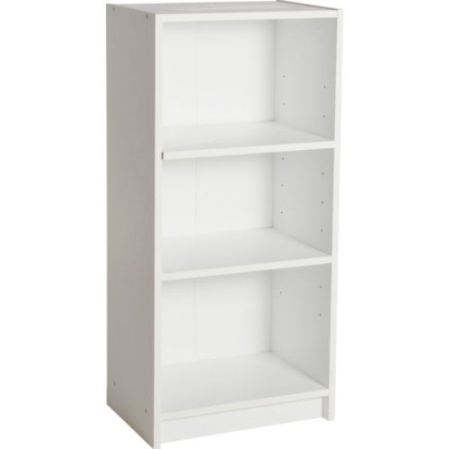 Elegant Essentialz Maine Half Width Small Extra Deep Bookcase - White with small white bookcase