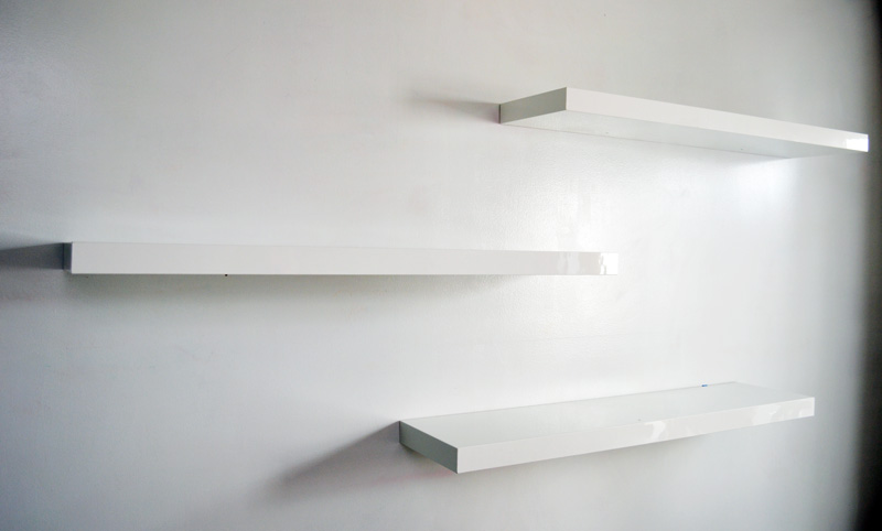 Elegant Floating Shelves White : floating shelves white floating shelves