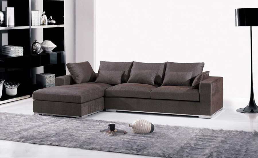 Elegant Free Shipping Furniture Fabric Design 2013 New Living Room L Shaped  Fabric L Shape Sofa