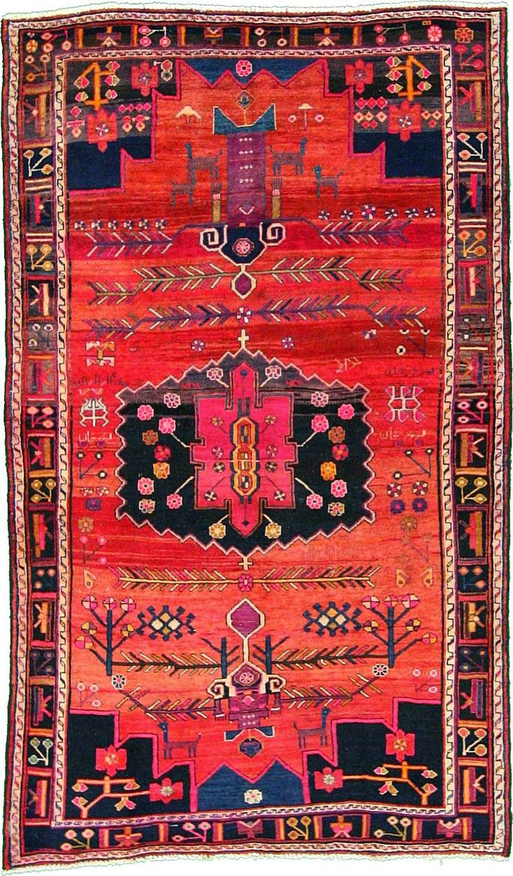 Elegant Home Chic Raleigh - Persian rug, bright colored rug, pink and orange bright persian rug