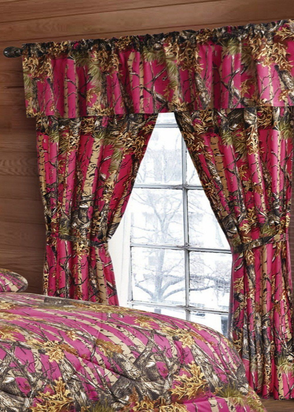 Elegant Hot Pink Camo Curtains - The Swamp Company pink camo curtains