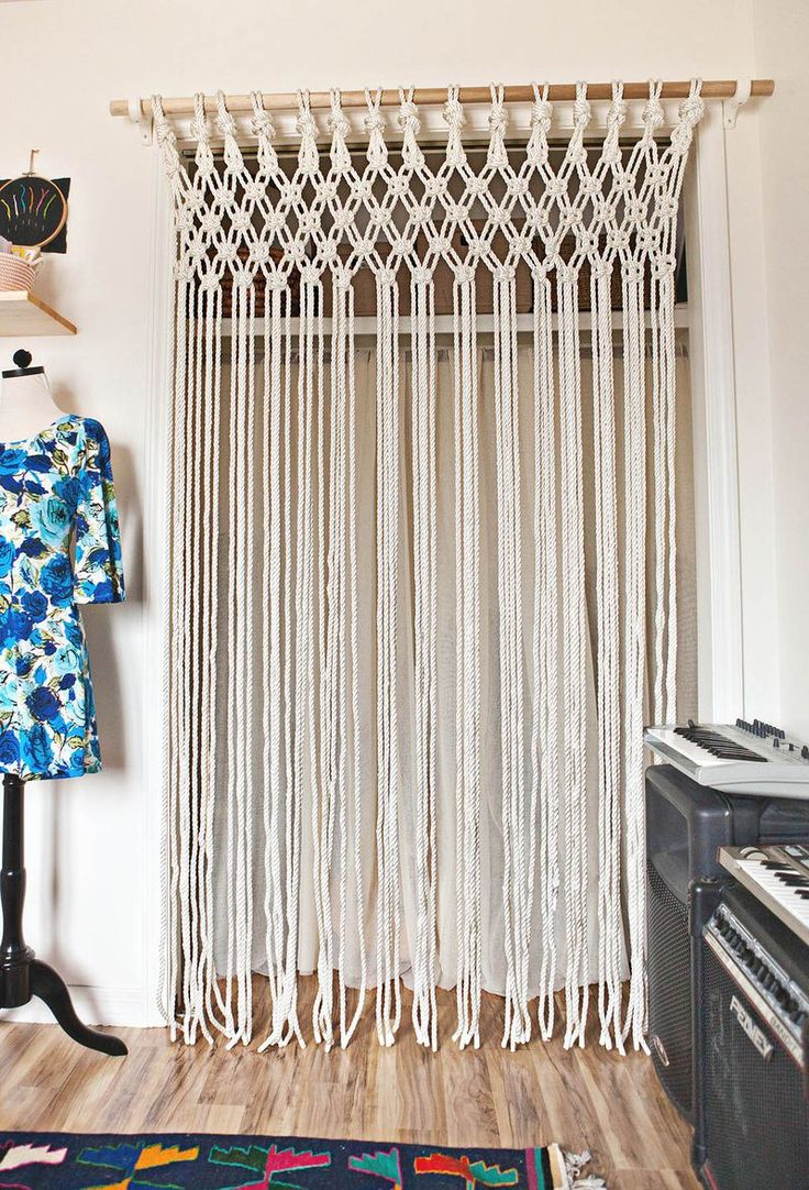 Elegant How-To: Macrame Curtains. Door CurtainsCloset ... beaded curtains for closet doors