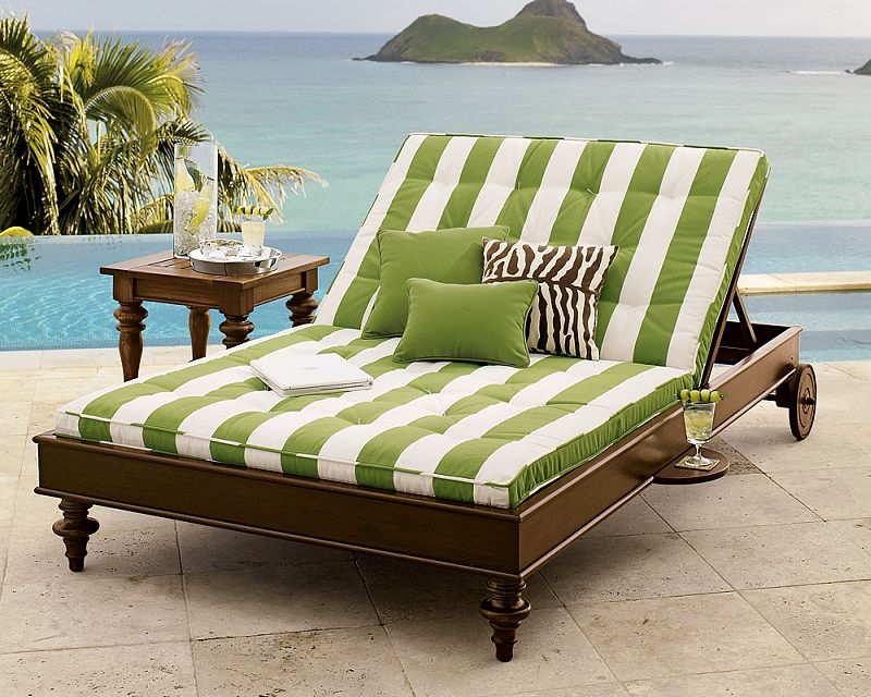 Elegant Image of: Rustic Outdoor Double Chaise Lounge double chaise lounge outdoor