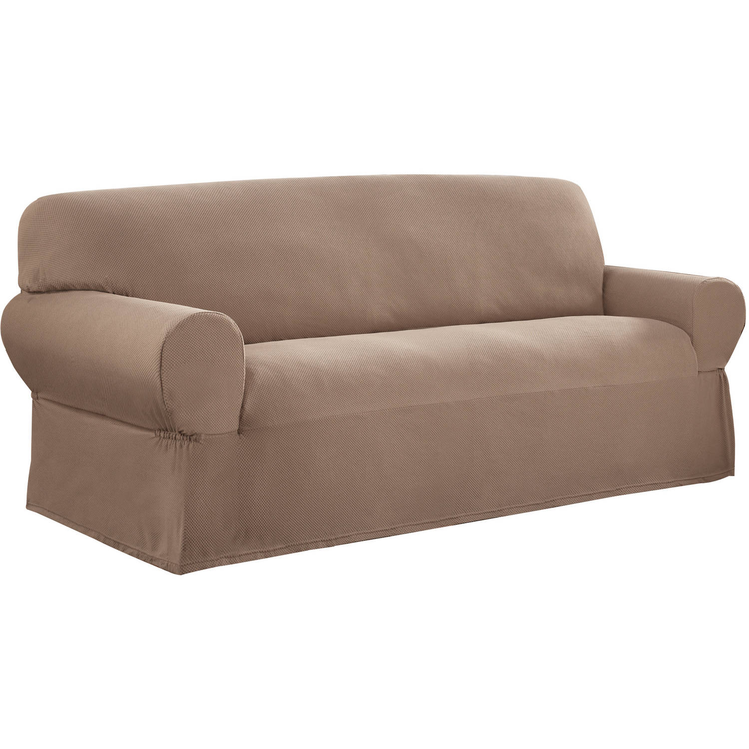 Elegant Mainstays 1-Piece Stretch Fabric Sofa Slipcover - Walmart.com stretch sofa slipcover
