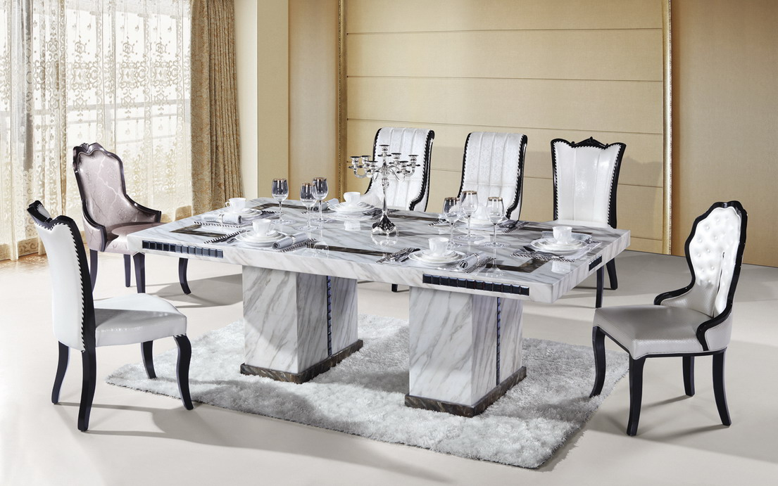 Elegant Marble Dining Table Set Marble Dining Table Set Part 6