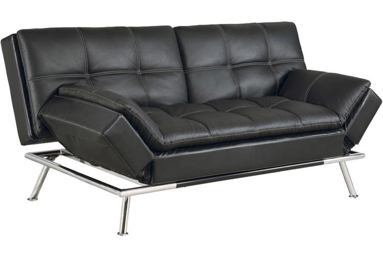 Elegant Matrix_Modern_Convertible_Futon_Sofa_Bed_Sleeper_Black  Matrix_Modern_Convertible_Futon_Sofa_Bed_Sleeper_Black_lrg Matrix Pillowtop  Bonded Leather Sofa Bed ... best futon sofa bed