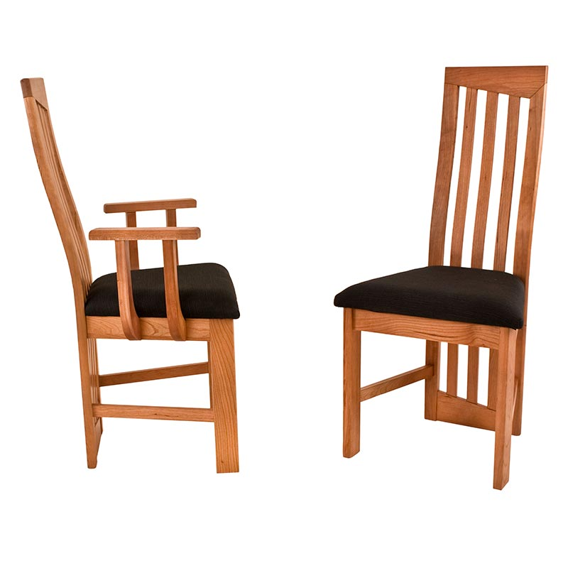 Elegant Modern High Back Cherry Dining Chairs high back wooden dining chairs