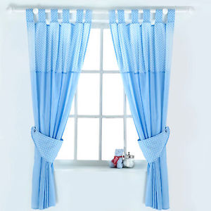 Elegant NEW RED KITE BLUE BERTIE BEAR BABY BOYS NURSERY CURTAINS WITH TIE baby blue nursery curtains