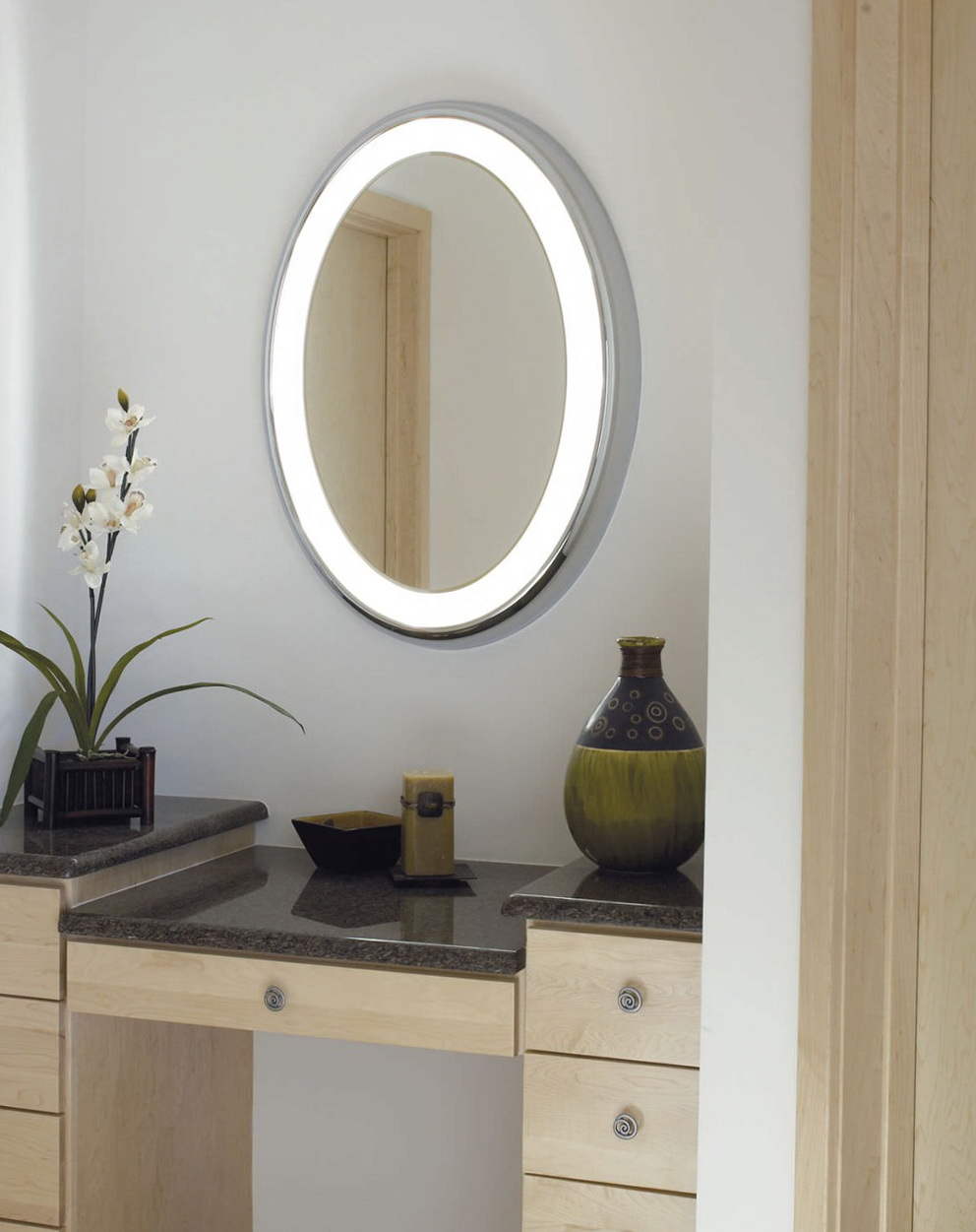 Elegant oval bathroom vanity mirrors oval bathroom vanity mirrors