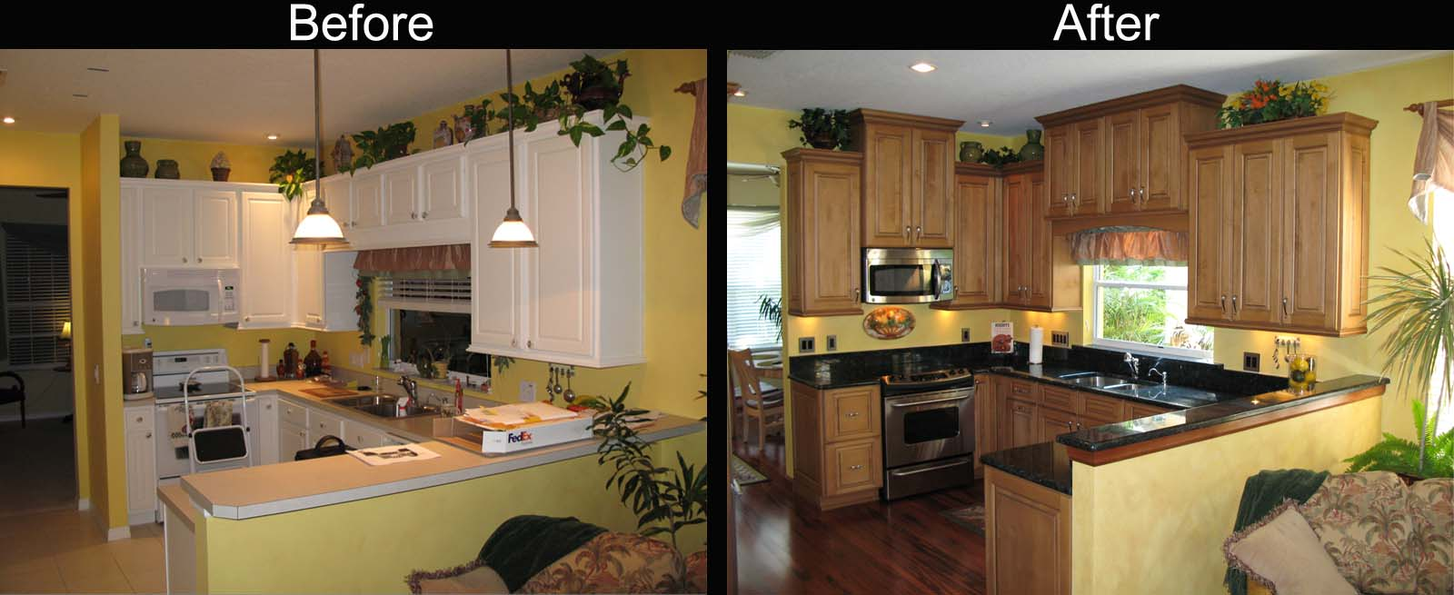 Elegant Painted Cabinets Before and After: Ideas for Your Kitchen Renovation:  Painted home renovation before and after