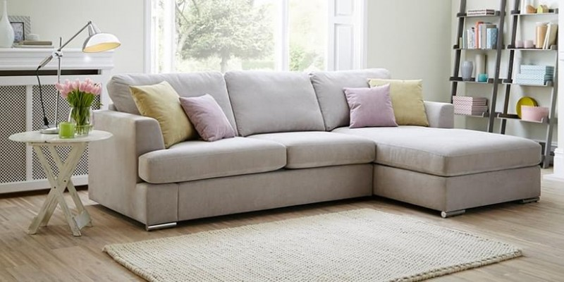 The l shaped sofa a consideration for your home for Cody fabric 5 piece l shaped sectional sofa
