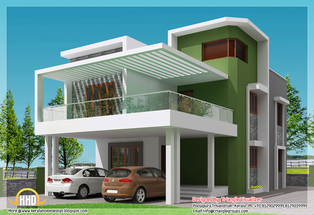Elegant small modern homes | Beautiful 4 BHK contemporary modern simple Indian house simple home design