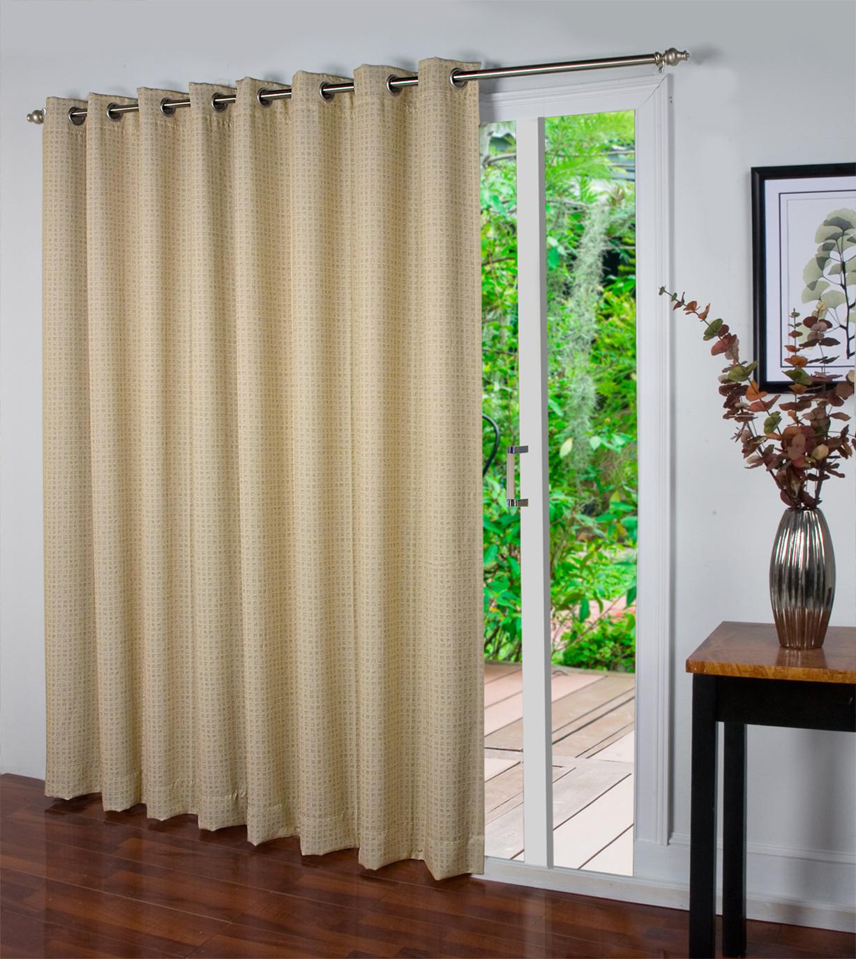 Elegant Spanish Steps Insulated Grommet Patio Panel patio door curtains