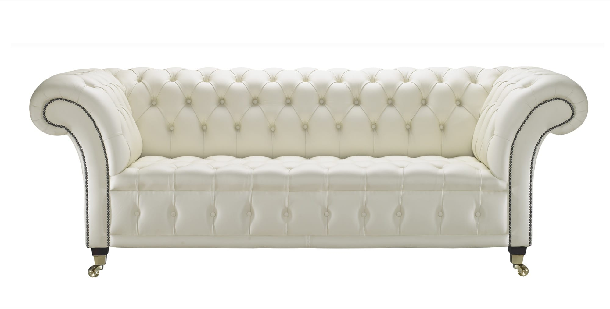 Elegant Venetia Cream Leather Chesterfield Sofa ... cream leather chesterfield sofa