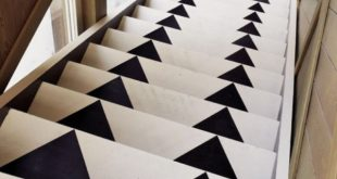 Elegant View in gallery Arrow stair runner.jpg black and white stair runner