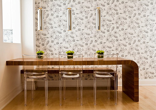 Elegant View in gallery Modern curved table space saving dining table