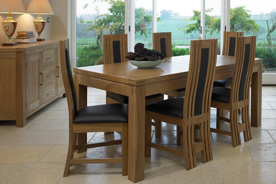 extending dining table right to have it in your dining room - Solid Oak Extending Dining Table And 6 Chairs