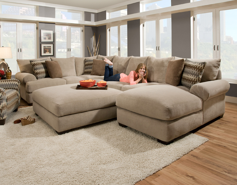 Cute Massive sectional featuring an extra deep seat with crowned cushions has an extra large sectional sofas with chaise