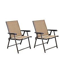 Cute image of Hawthorne Folding Sling Chairs (Set of 2) folding patio chairs