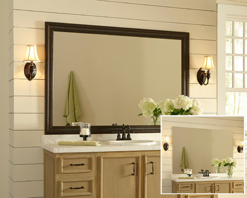 Awesome Framed Bathroom Mirror Photos framed bathroom mirrors
