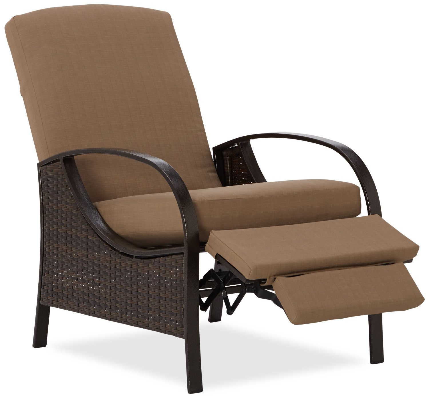 Elegant Amazon.com : Strathwood All-Weather Wicker Deep Seating Outdoor Recliner :  Patio, Lawn garden furniture recliners