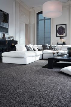 Elegant Dark grey carpet More grey carpet living room ideas