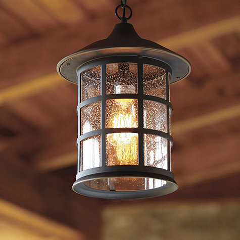 Modern Ballard Outdoor Pendant Light Fixtures Design Foremost Wooden Brown Roof  Ceiling hanging outdoor light fixtures