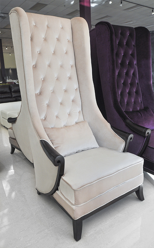 Charming Modern And Classical Wing Back Chair