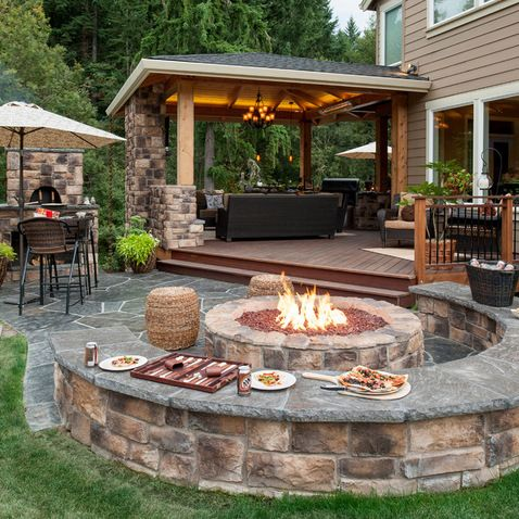 Attractive Create A Beautiful Look Of House Backyard With Unique Backyard Patios