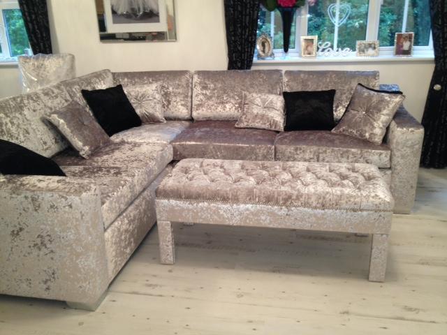 Ideas of crushed velvet sofa in living room - Google Search crushed velvet sofa
