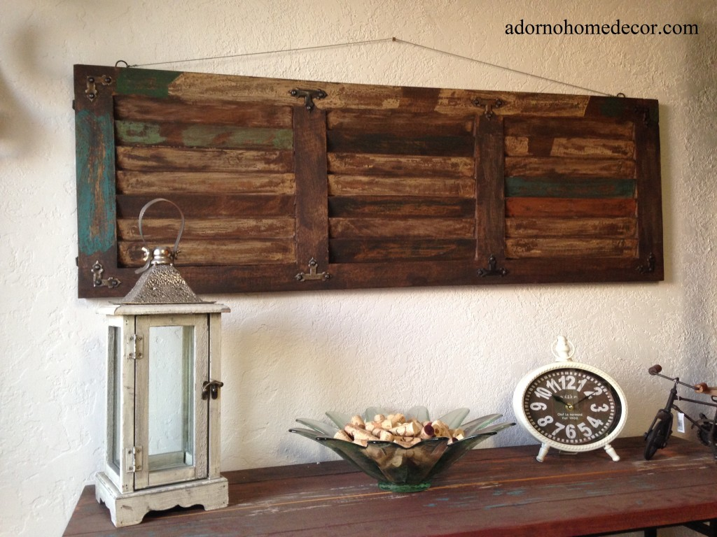 Ideas of Details about Rustic Wood Wall Panel Distressed Shutter Antique Vintage  Shabby Accent rustic wood wall decor