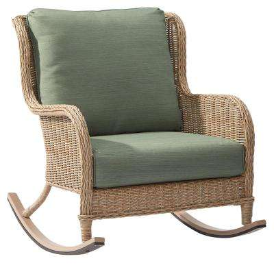 Ideas of Lemon Grove Wicker Outdoor Rocking Chair with Surplus Cushions rocking chair patio set