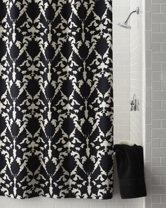 Ideas of Silhouette Floral Shower Curtain - Neiman Marcus black and white floral shower curtain