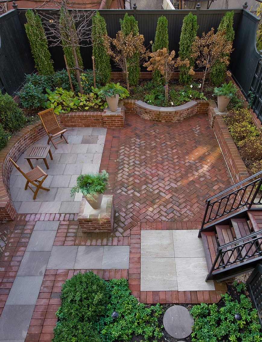 Ideas of View in gallery Brooklyn patio of brick and Safari Sandstone brick patio designs