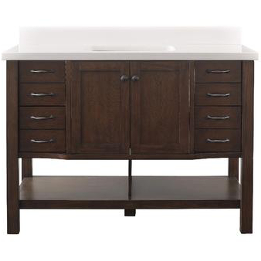 Images of allen + roth Kingscote 48-in Espresso Undermount Single Sink Bathroom Vanity  with 30 inch bathroom vanity with top