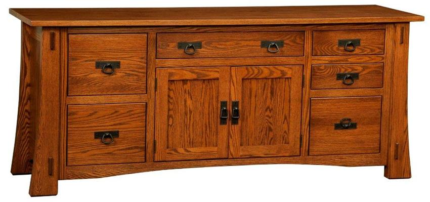 Images of Amish Modesto Mission Credenza with File Drawers office credenza with file drawers