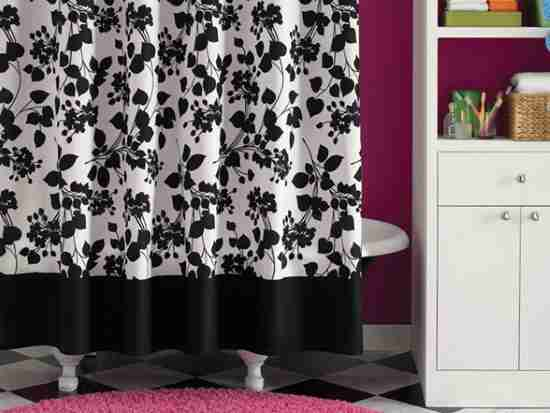Black And White Flower Shower Curtain. Getting a great black shower curtain  darbylanefurniture com