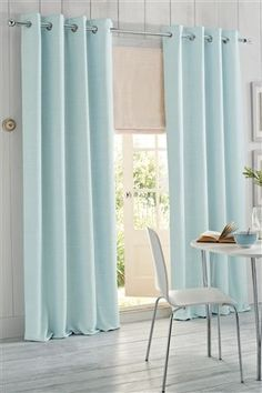 Images of Buy Duck Egg Woven Texture Eyelet Curtain from the Next UK online duck egg blue curtains