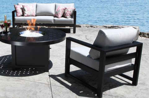 Images of Cast Aluminum Patio Furniture - Wynn Patio Conversation Set with a Modern modern aluminum patio furniture