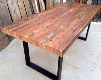 Images Of Custom Outdoor Indoor Exposed Edge Rustic Reclaimed Wood Dining Table